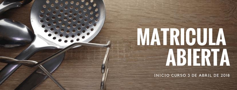 Matricula abierta Cursos de cocina y pasteleria para profesionales