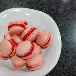 Receta macaron de fresa