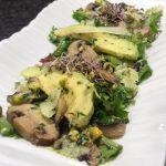 Receta de ensalada de hongos con idiazabal
