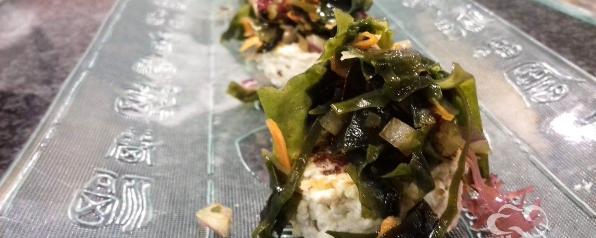 Receta de Panir con tartar de algas