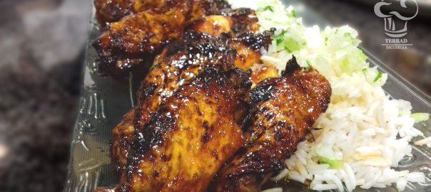 Receta de alitas de pollo con miel y soja