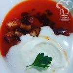 Receta de Crema de bloody mary con pesto rojo