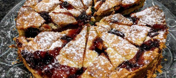 Receta de tarta de almendars y frambuesas
