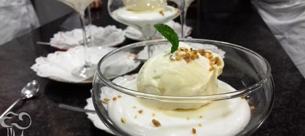 Receta de helado de miel y mato
