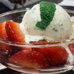 Receta de fresas balsamicas con helado de mascarpone