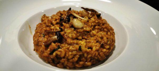 Receta de risotto de setas y mozarella