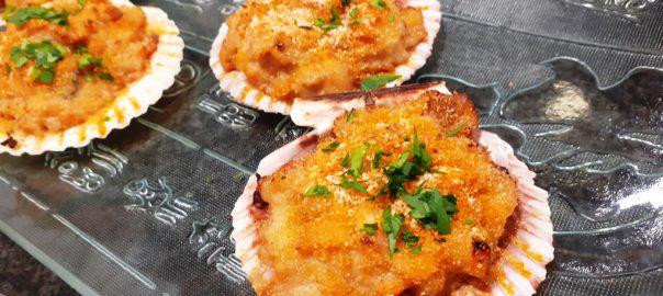 Receta de concha de pescado