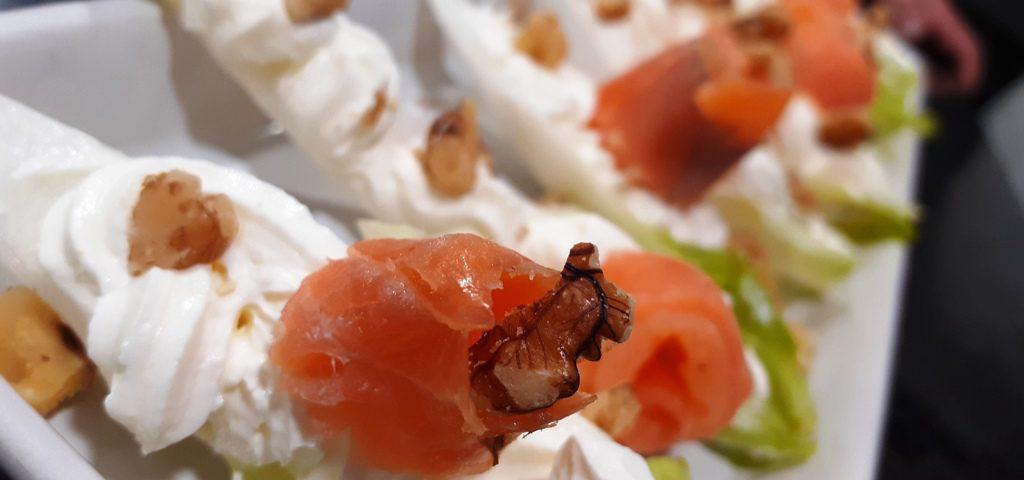 Endivias con salmon