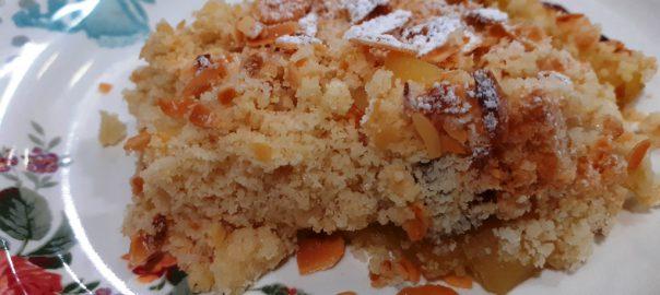 Receta de crumble de manzana