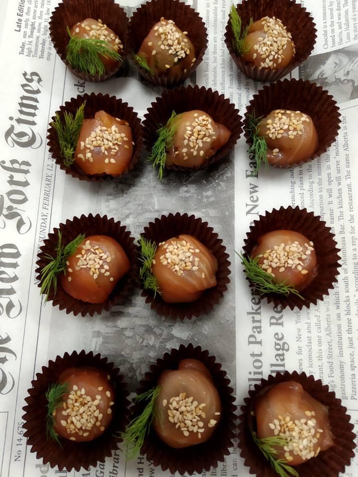 Receta de caramelo de salmon