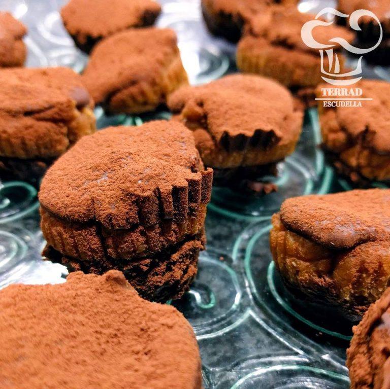 Bombones de castaña y chocolate