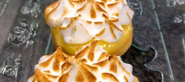 Tartaletas de limón merengado
