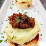 Volcan de fondue de queso y sobrasada