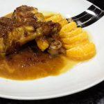 Jamoncitos de pollo con salsa de mandarina