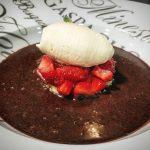 Receta de tartar de fresas y helado de mascarpone