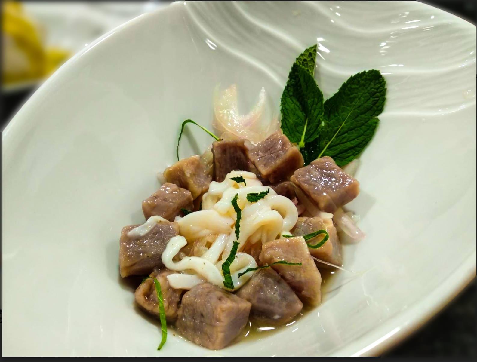 Receta de Ceviche de chipiron y bonito