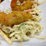 Receta de ensalada coleslaw con langostinos