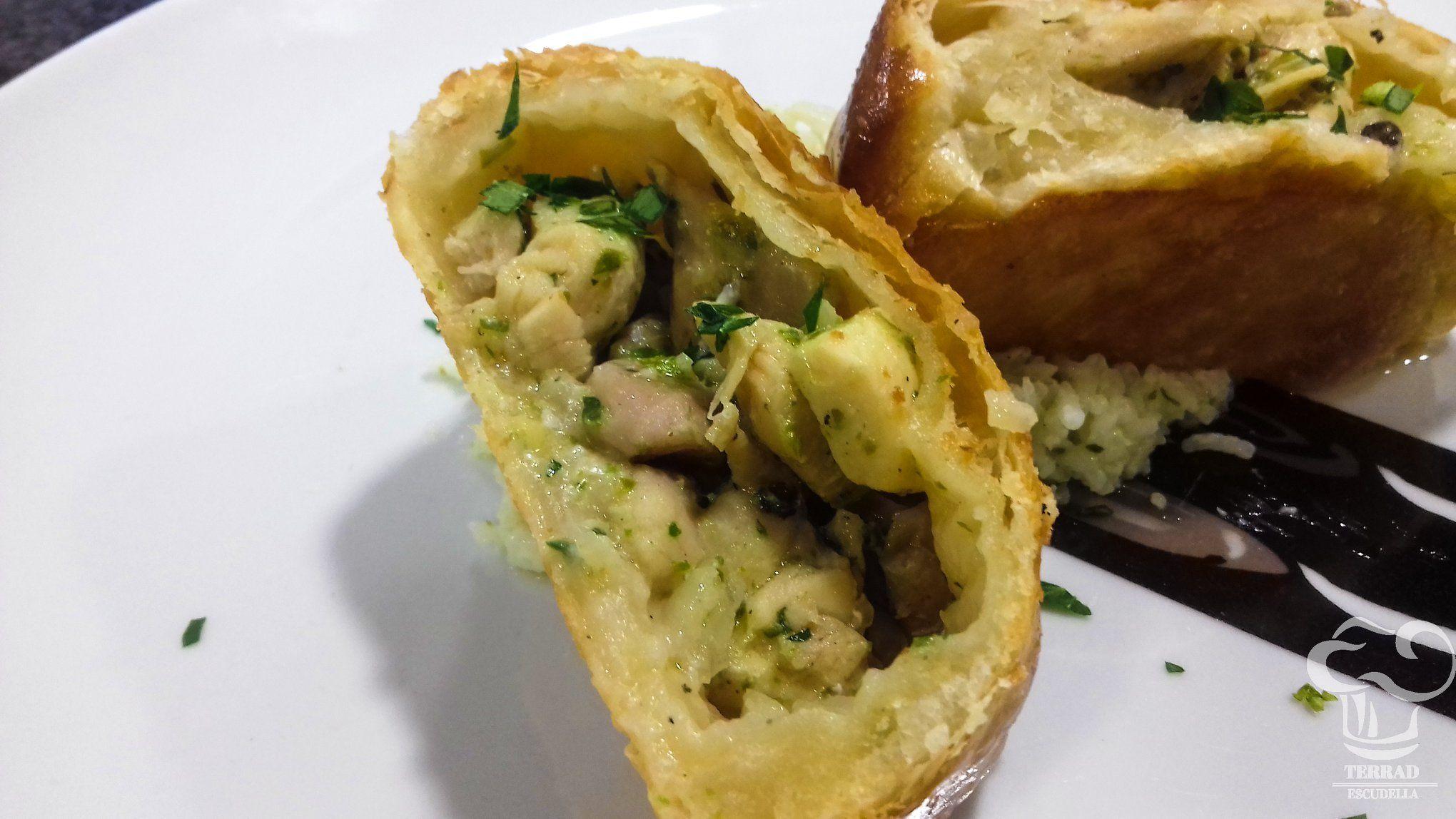 Receta de Hojaldre de curry verde de pollo