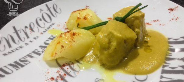 Receta de merluza con salsa al curry