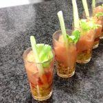 Receta de Sorbete de Bloody Mary con mejillones