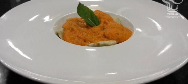 Receta de raviolis rellenos de setas y queso de cabra
