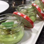 Receta de crema de guisantes y pistachos