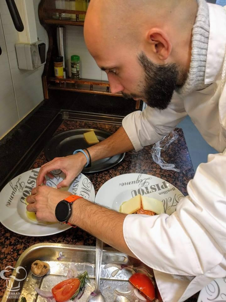 receta de raclette de verduras y salom