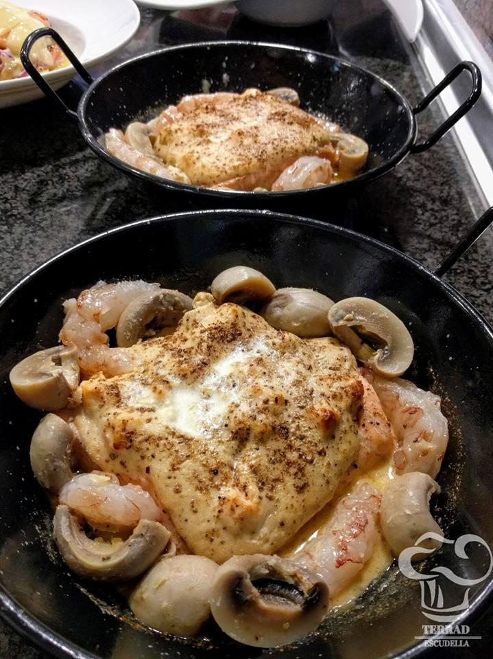 Receta de salmon asado con gambas