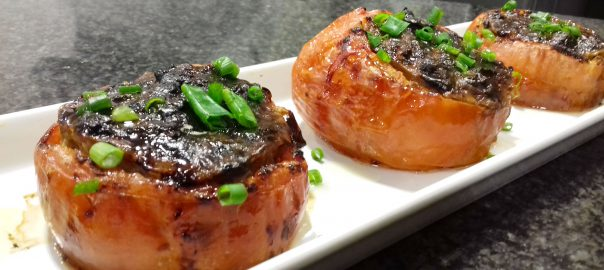 Receta de tomates asados rellenos de queso azul
