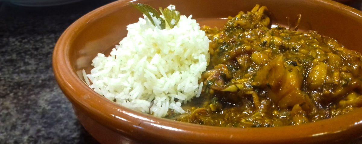 Receta de calamares al curry verde