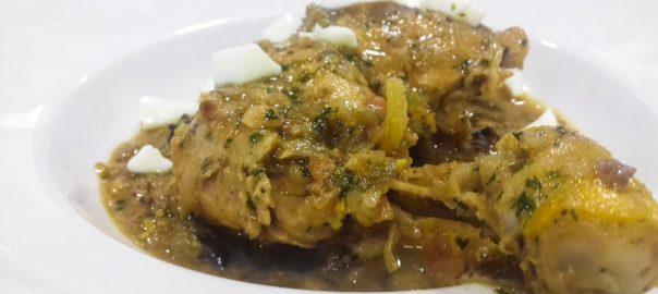 Receta de tajine de pollo con almendras