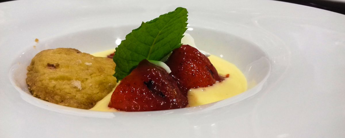 Receta de crema con fresas a la plancha