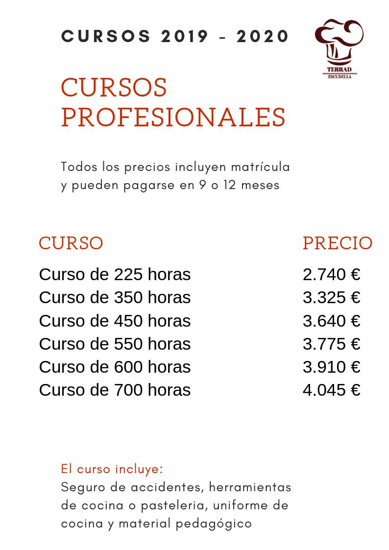 precios escuela de cocina en barcelona