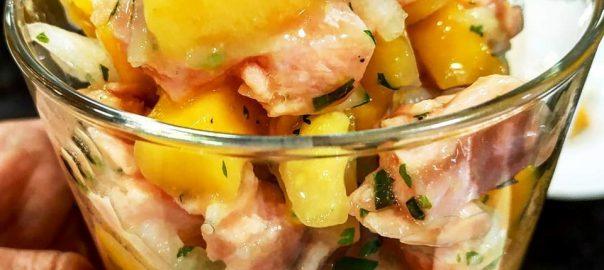 Receta de cebiche de salmon y yuca