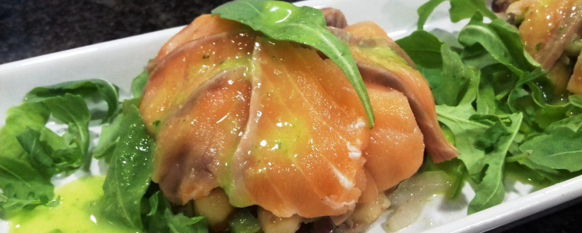 Receta de ensalada de legumbres con salmon
