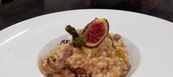 Receta de risotto de pato con higos