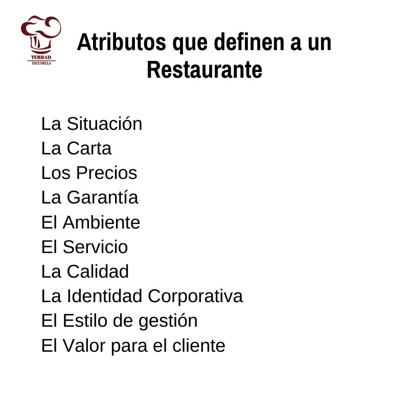 Atributos de un restaurante